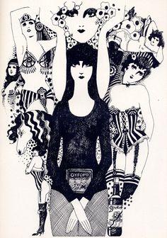 illustration by caroline smith • spit at the heavens • vanity fair april 72