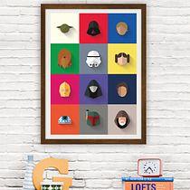 Star Wars - Icon Set - plakat giclee print, minimalmill Star Wars Icons, Icon Set, Icon Design, Giclee Print, Stars, Frame, Home Decor, Picture Frame, Decoration Home