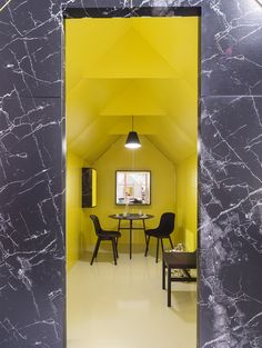 basil green pencil: HAY and Wrong for Hay Space in Brera: Minimal meets Colors