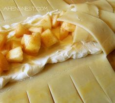 cream cheese apple braid. replace apple with fresh pears for ic