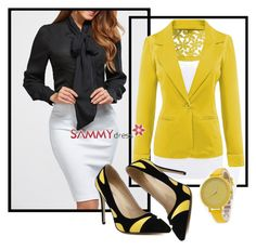 """Style business women"" by dzemila-c ❤ liked on Polyvore featuring sammydress"