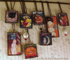 Vintage Halloween postcards  ...turned into unique jewelry