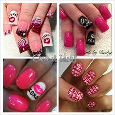 XOXO nail designs