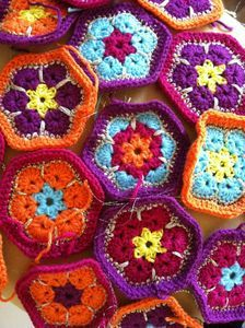 african flower hexagons