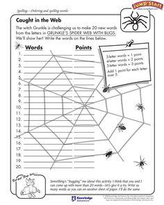 spider printable worksheet story book images pinterest printable worksheets worksheets. Black Bedroom Furniture Sets. Home Design Ideas