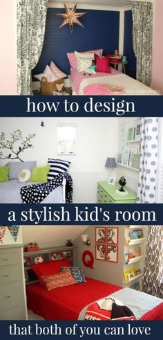Great tips on how to design a stylish kid room that you both will love!  @Remodelaholic.com #spon #style #bedroom #kids