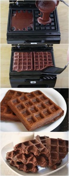 WAFFLE DE BROWNIE, TÃOOO DELICIOSO E TÃO FÁCIL DE FAZER QUE VOCÊ VAI QUERER SEMPRE!!! (veja a receita passo a passo) #waffle #brownie #waffledebrownie #chocolate