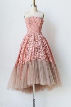 Sweet Strapless Mesh Spliced Sleeveless Dress