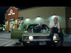 "Taco Bell Viva Young Super Bowl Commercial  Set to a Spanish remake of the hit ""We Are Young"" by fun., 87-year-old Bernie Goldblatt and his friends bust out of their retirement home for an epic night including stops at a nightclub and tattoo parlor, and of course, like all epic nights, ends at Taco Bell for a meal in the wee hours."