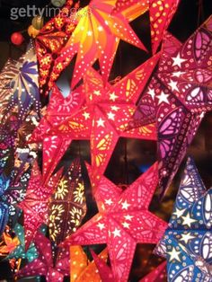german paper star lanterns LOVE these so much i have one but there will be more