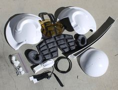 X Wing Pilot Helmet 'Builder's Kit' by DHPFX on Etsy
