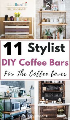 Coffee Bar Station, Coffee Stations, Bar Tables, Pantry Ideas, Bar Carts, Diy Home Decor, Diy Projects, Suit, Rustic