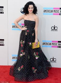 Hitting the road: Katy, seen here at the American Music Awards, will be touring the world with her Prismatic Tour in 2014