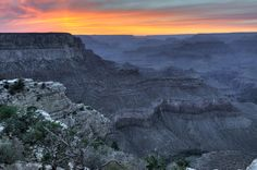 Grand Canyon South Rim, Grand Canyon Village, Arizona — by Brendan Caffrey. Sunset from Yaki Point, Grand Canyon National Park, AZ See tons more @ http://www.onefortheroadphoto.com/