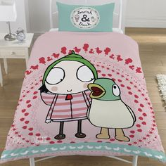 Sarah and Duck Noisy Duck Single Duvet Cover Bed Set Gift Official CBeebies in Home & Garden, Kids & Teens at Home, Bedding, Bedding Sets | eBay