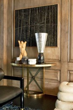 Traditional panelling - modern furniture