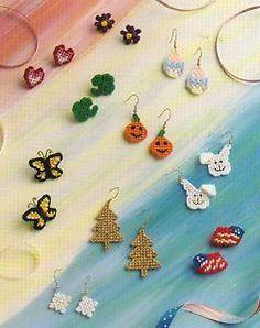 Free Plastic Canvas Patterns Sports | Seasonal Earrings Plastic Canvas Pattern from Annie'S | eBay