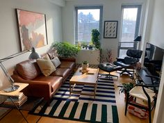Male Living Space - My prospect heights brooklyn residing room – impressive man cave ideas , decor for men , cave diy ideas , s fashion , room ideas Boho Living Room Decor, Manly Living Room, Living Room Setup, Living Room Designs, Masculine Living Rooms, Small Apartment Living, Living Spaces, Men's Living Rooms, Apartment Design