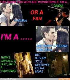 stelena vs Delena I personally know in comparison stefans body is obviously better
