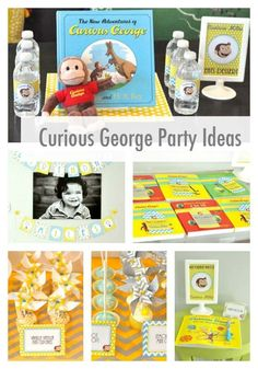 curious george book party - love, love, love this party - www.spaceshipsandlaserbeams.com