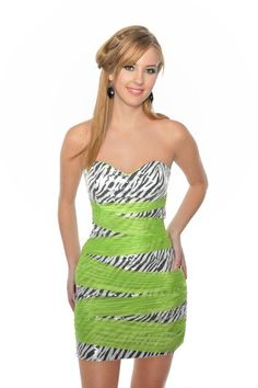 Short Zebra Print Party Dress at PromGirl.com  caitlyn homecoming ...