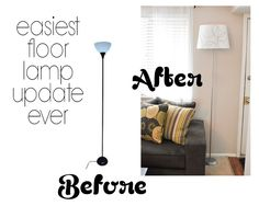 Decorating Through Dental School: Easiest Floor Lamp update EVER!!