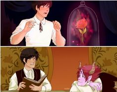 Tomarco, Beauty and the Beast AU Tumblr