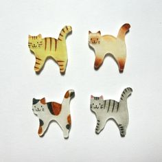 From Japan, Adorable! おさんぽ猫のブローチ by kucing アクセサリー コサージュ・ブローチ