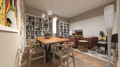STUDIO SAGITAIR | Architettura - Interior Design - Render - Progetto Design Hotel, E Design, Interior Design, Bookcase, Conference Room, Shelves, Studio, Table, Shopping