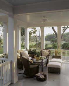 A lovely veranda with a view.