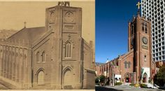Check Out This Trove Of Gold Rush-Era San Francisco Photography: SFist - Old St. Mary's then and now.