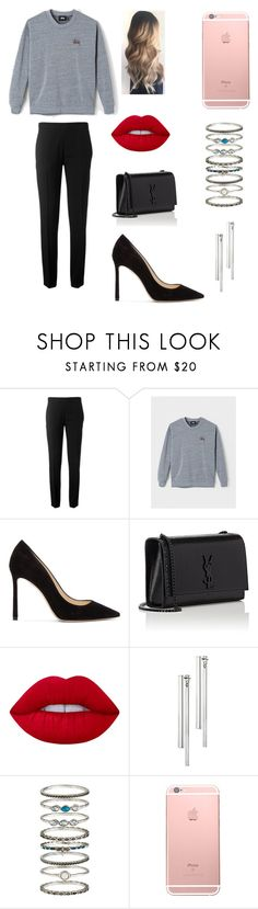 """""""Dinner"""" by vanessad123 ❤ liked on Polyvore featuring Chloé, Stussy, Jimmy Choo, Yves Saint Laurent, Lime Crime, Kain and Accessorize"""