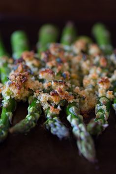 This asparagus gratin takes fresh asparagus and tops it with lemon, herb and sharp Parmesan cheese panko bread crumbs. This side dish is spring time perfection.