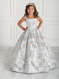 High Neck Floral Embroidered Quinceanera Dress by Mori Lee Valentina 3 – ABC Fashion Little Girl Dresses, Girls Dresses, Charro Dresses, Charro Quinceanera Dresses, Quinceanera Collection, Mori Lee Dresses, Brocade Dresses, Quince Dresses