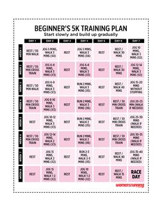 printable 5k training schedule   this new schedule