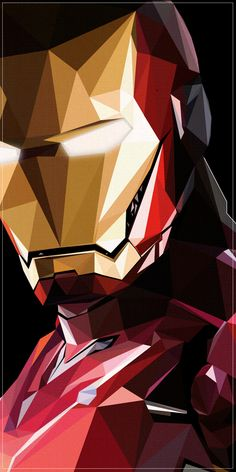 iron man illustration. sick geometric design!