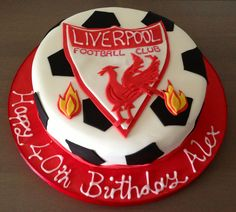 Liverpool football cake Source by kybeatle Football Birthday Cake, Birthday Cakes, Liverpool Cake, 21st Cake, Red Cake, Cakes For Boys, Cupcake Cakes, Cupcakes, Baby Shower Cakes
