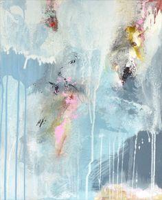 Original pintura abstracta, arte moderno, pinturas acrílicas, luz azul amarillo blanco pintura, una nueva IDEA