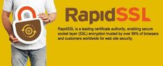 Rapid SSL Certificates will give you full 128/256 bit encryption for your website and issued within 15 minutes. Starting at £9.99/yr.  #RapidSSL #ssl #ssl_certificates