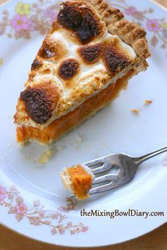 The Mixing Bowl Diary » Sweet Potato Pie with Toasted Marshmallow {Gluten Free, Dairy Free}