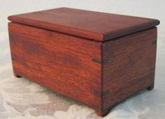 Small Wooden Keepsake Box