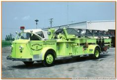 Hudson Fire Department - Hudson, NY...1948 American LaFrance 100' Ladder truck...