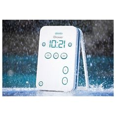 Amazon.com: Water-Resistant Bluetooth Shower Speaker for iPhone/iPad - Sharper Image - iShower LLC: Electronics