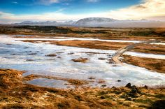 Lonely Bridge in Thingvellir National Park, Iceland
