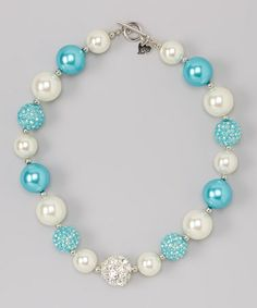 Ivory & Turquoise Gem Necklace ~ more colors & styles to choose from