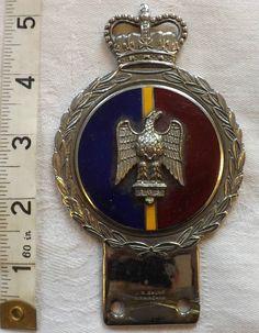 Original Military WWI/II  1st Royal Dragoon Car Badge Mascot (986)