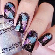 July 6: Feather Holo Nails by @lina88makeup; check it out at http://www.nailitmag.com/nail-art-of-the-day/feather-holo