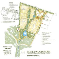 An initial concept plan for an organic, biodynamic, permaculture farm in Barnesville, GA called Honeywood Farms.