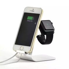 2 in 1 Aluminum Stand Holder for iWatch Samsung Galaxy S6 S7 iPhone 5s 6 6s Plus