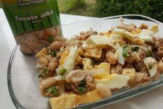 Retete Culinare - Salata de fasole cu ton si cascavea